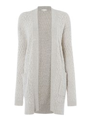 Gray And Willow Leis Cable Knit Cardi Cream
