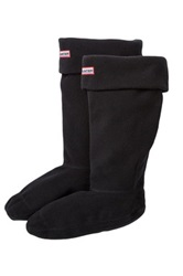 Hunter Fleece Welly Socks Black