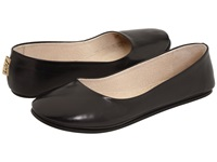 French Sole Sloop Black Nappa Leather Women's Flat Shoes