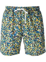 Fendi Printed Swim Shorts Multicolour