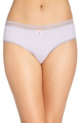 Betsey Johnson Women's Stretch Cotton Hipster Panty Mini Stripe Magic Mushroom