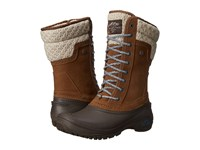 The North Face Shellista Ii Mid Desert Palm Brown Balsam Blue Women's Cold Weather Boots