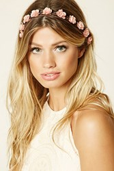 Forever 21 Faux Suede Floral Headwrap