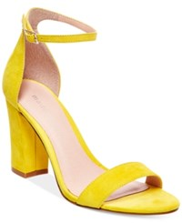 Madden Girl Madden Girl Bella Two Piece Block Heel Sandals Women's Shoes Yellow