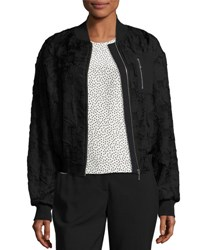 Grey By Jason Wu Jacquard Bomber Jacket Black