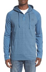 O'neill Men's 'The Bay' Henley Hoodie Dusty Blue