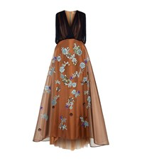 Delpozo Embellished A Line Gown Female Brown