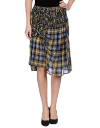 Zucca Knee Length Skirts Yellow