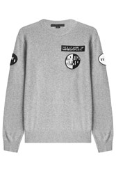 Alexander Wang Wool Cashmere Pullover With Patches Grey