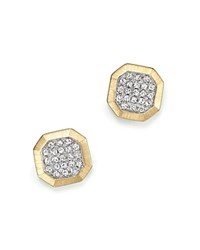 Kc Designs Diamond Pave Octagon Studs In 14K Yellow Gold .20 Ct. T.W. White Gold