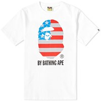 A Bathing Ape Stars And Stripes Bathing Tee White