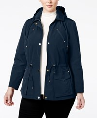 Charter Club Plus Size Hooded Anorak Jacket Only At Macy's Intrepid Blue