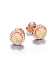 Suzanne Kalan Opal And White Sapphire 14K Rose Gold Earrings
