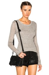 James Perse Doubled Cashmere Crew Sweater In Gray