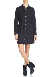 1.State Women's Faux Suede Shirtdress Rich Black