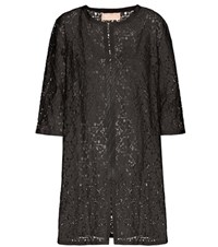 81 Hours Letto Lace Open Cardigan Black