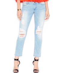 Guess Ripped Ankle Jeans Berry Bliss Wash