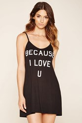 Forever 21 Love U Graphic Cami Nightdress