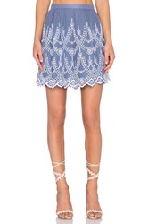Kendall Kylie Eyelet Circle Skirt Blue