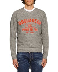 Dsquared Heather Varsity Sweatshirt Dark Gray