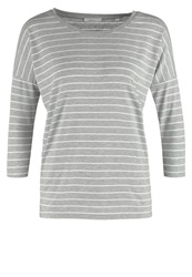 Opus Sachi Long Sleeved Top Soft Grey Silver