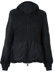 Moncler Grenoble Shirred Front Panel Jacket Black