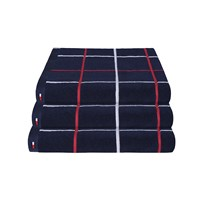 Tommy Hilfiger Navy Checks Towel Hand Towel