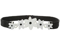 Kate Spade Stretch Straw Belt W Lilly Belt Fresh White Black Straw Women's Belts