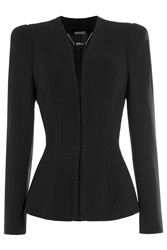 Alexander Mcqueen Structured Blazer With Wool Black