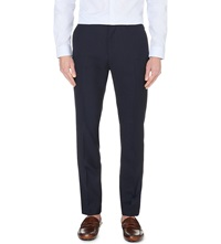 Reiss Martino Wool Blend Slim Fit Trousers Navy