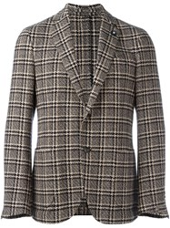 Lardini Plaid Blazer Black