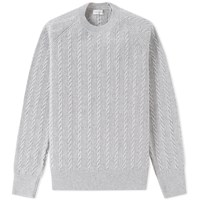 Dries Van Noten Mingo Cable Crew Knit Grey