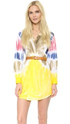 Dsquared Tie Dye Shirtdress White