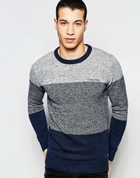 Firetrap Stripe Knitted Jumper Navy