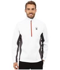 Spyder Outbound Half Zip Mid Weight Core Sweater White Polar Volcano Men's Sweater