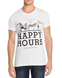 Happiness Happy Hours Graphic Tee White