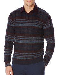 Perry Ellis Regular Fit Plaid Pullover Charcoal Heather