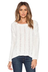 Suss Maddie Boatneck Pullover Sweater Cream
