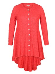 Chesca Bubble Jacket With Godet Back Red