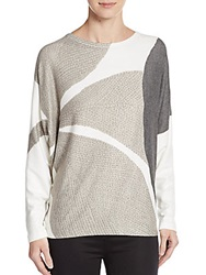 Go Couture Knit Dolman Sleeve Top Grey Multi