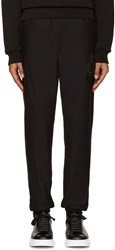 Alexander Mcqueen Black Embroidered Skull Lounge Pants