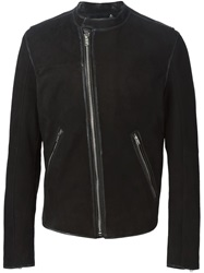 Blk Dnm Band Collar Jacket Black