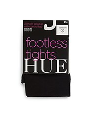 Hue Opaque Footless Tights Black