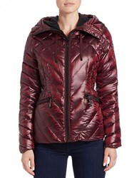 Vince Camuto Quilted Puffer Jacket Bordeaux