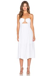 Shakuhachi Provence Hardwire Midi Dress White