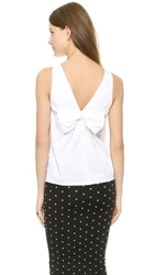 Red Valentino Bow Back Sleeveless Top White