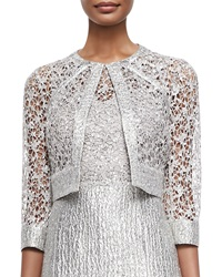 Kay Unger New York Sequined Lace Jacket