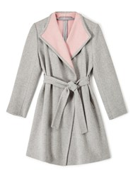 Precis Petite Jeff Banks Wrap Coat Grey