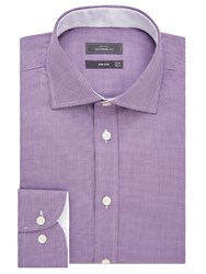 John Lewis Luxury Puppytooth Tailored Fit Shirt Berry White