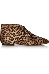 Isabel Marant Ginger Leopard Print Calf Hair Ankle Boots Leopard Print